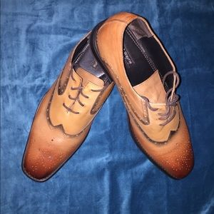 Robert Wayne Brown Leather Oxford Sz 12D EUC